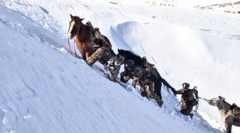 海拔5800多米的邊防巡邏