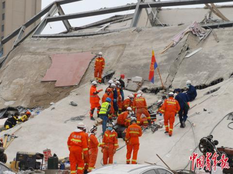 泉州一酒店坍塌已致10人死亡