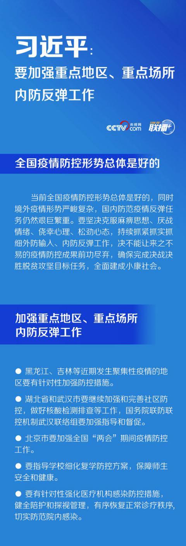 【订阅中国青年报】_联播+   习近平:要加强重点地区、重点场所内防反弹工作