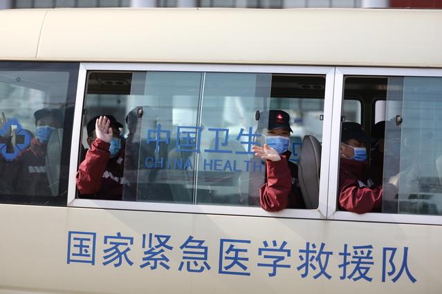 [湖北省武汉市]在武汉支援的多省医疗队今日离汉