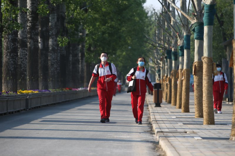 北京5萬高三學生今天回歸校園